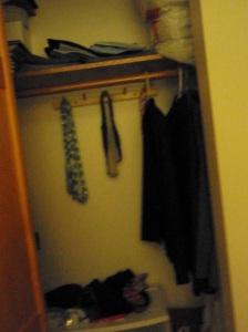 My empty closet.