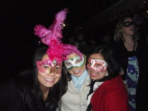 Me and two of my roommates in Venezia during Carnival.