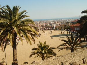 The view of Barcelona from Park Güell.