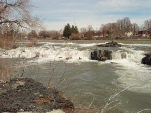 Some of the falls of Idaho Falls.