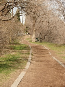 The trail along the river.
